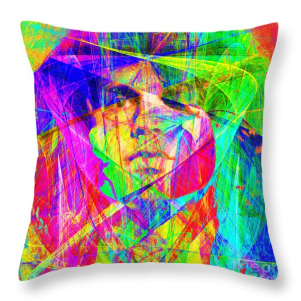 Jim Morrison 20130613 square Throw Pillow by Wingsdomain Art and Photography