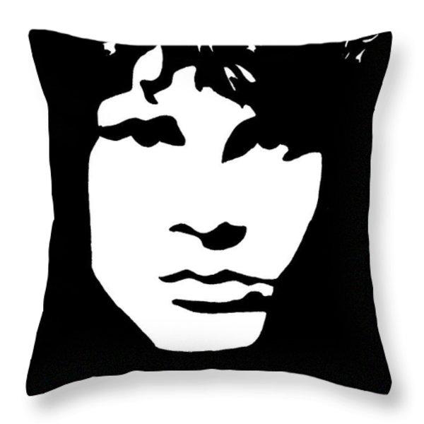 Jim Morrison  Throw Pillow by Yael Rosen