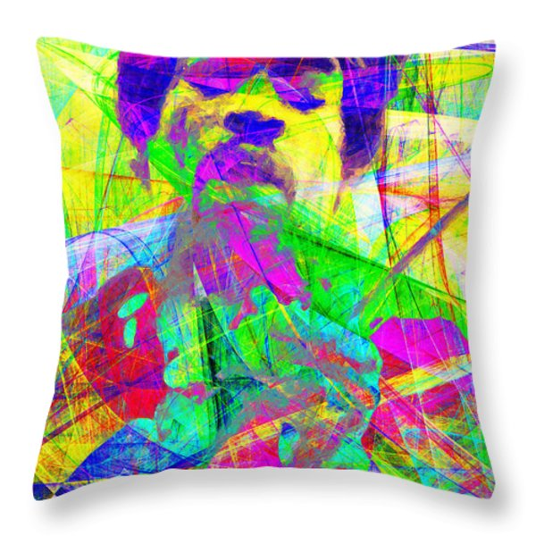 Jimi Hendrix 20130613 Throw Pillow by Wingsdomain Art and Photography