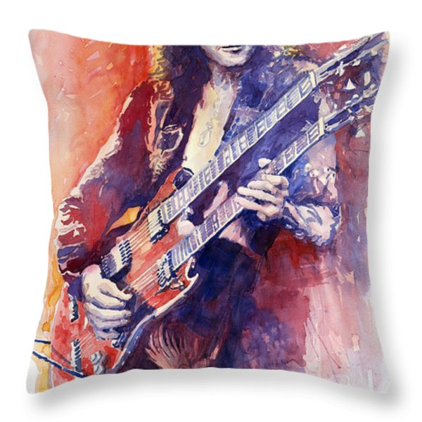 Jimmi Page Throw Pillow by Yuriy Shevchuk