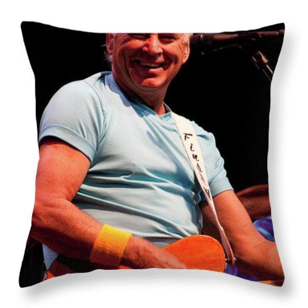 Jimmy Buffett 5626 Throw Pillow by Timothy Bischoff
