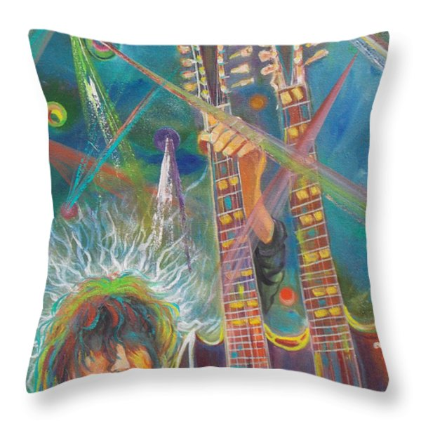 Jimmy Page Throw Pillow by To-Tam Gerwe