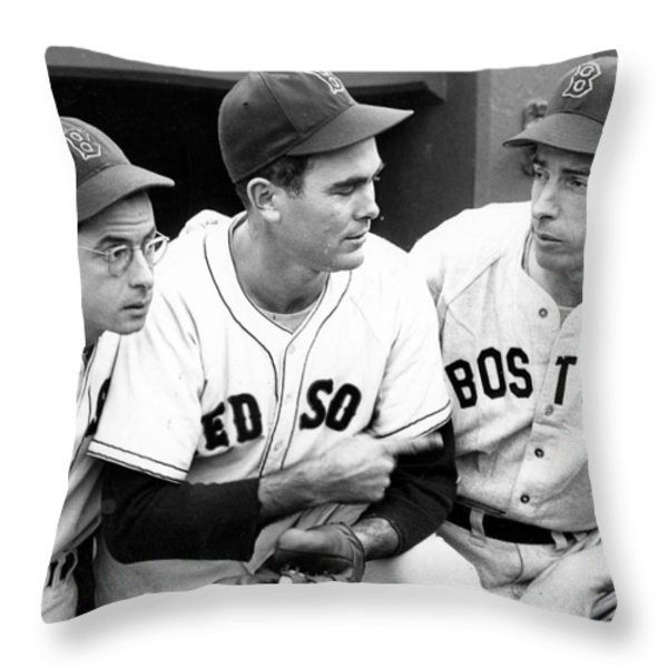 Joe DiMaggio Poster Throw Pillow by Gianfranco Weiss