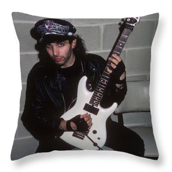Joe Satriani Throw Pillow by Rich Fuscia