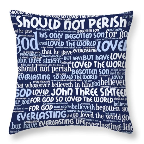 John 3-16 20130622bwco80 Throw Pillow by Wingsdomain Art and Photography