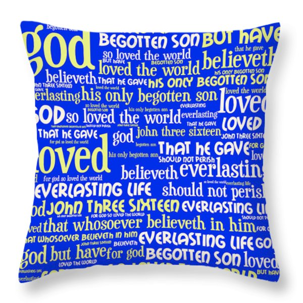 John 3-16 For God So Loved The World 20130622 Vertical Throw Pillow by Wingsdomain Art and Photography
