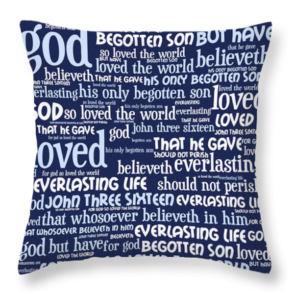 John 3-16 For God So Loved The World 20130622bwco80 Vertical Throw Pillow by Wingsdomain Art and Photography