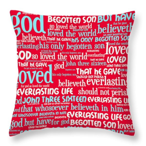 John 3-16 For God So Loved The World 20130622p120 Vertical Throw Pillow by Wingsdomain Art and Photography