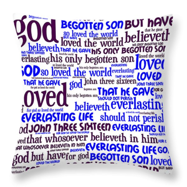 John 3-16 For God So Loved The World 20130622whi Vertical Throw Pillow by Wingsdomain Art and Photography