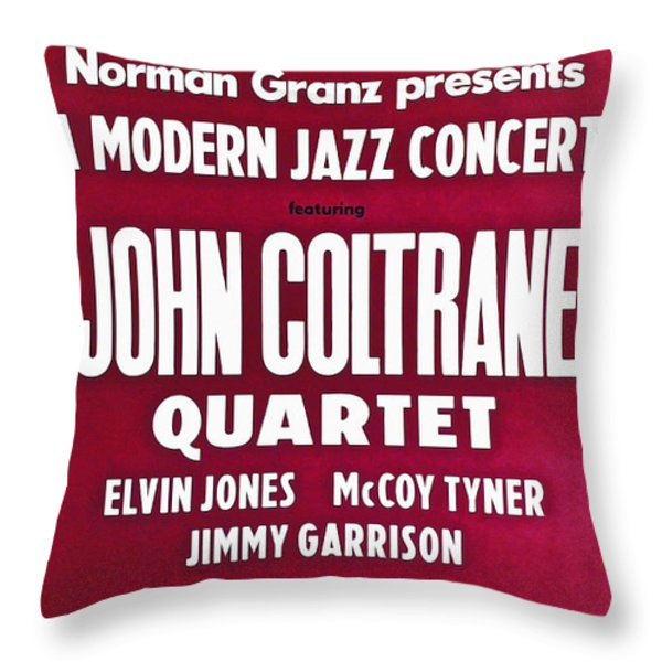 John Coltrane Quartet In Sweden Throw Pillow by Digital Reproductions