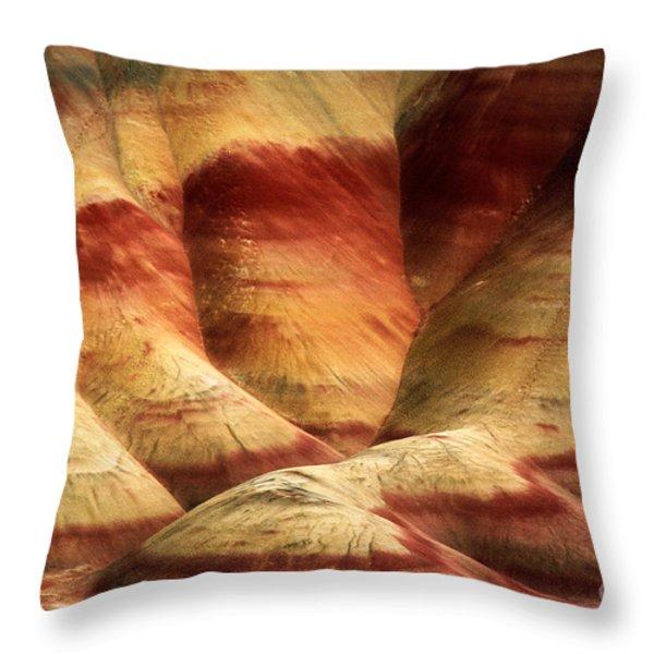 John Day Martian Landscape Throw Pillow by Inge Johnsson