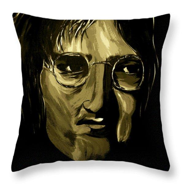 John Lennon 4 Throw Pillow by Mark Moore