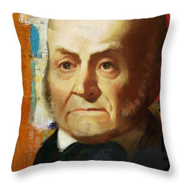 John Quincy Adams Throw Pillow by Corporate Art Task Force