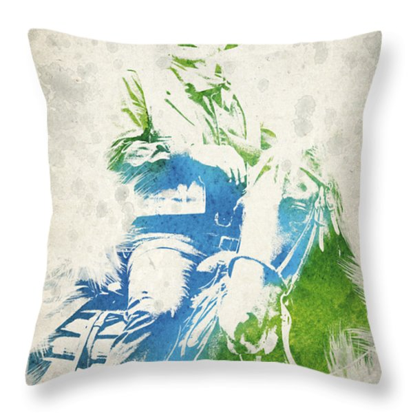 John Wayne  Throw Pillow by Aged Pixel