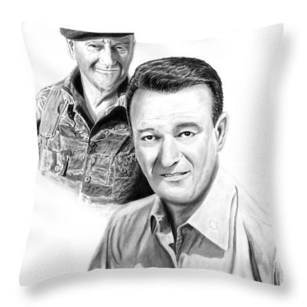 John Wayne Throw Pillow by Peter Piatt