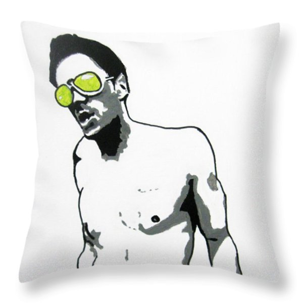 Johnny Knoxville Throw Pillow by Venus