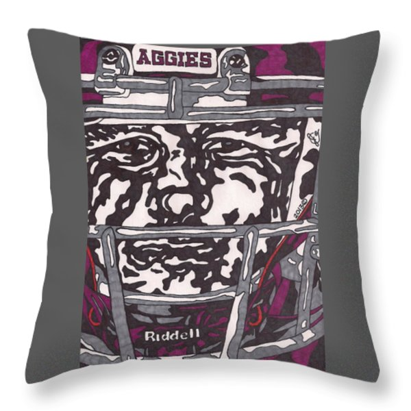 Johnny Manziel 16 Throw Pillow by Jeremiah Colley