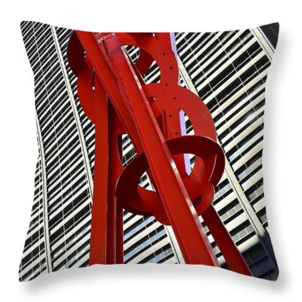 Joie De Vivre Sculpture Throw Pillow by Allen Beatty