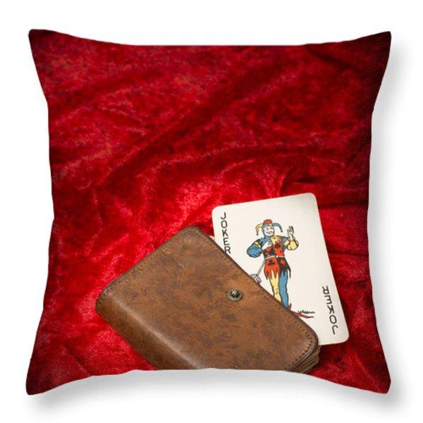 Joker Throw Pillow by Amanda And Christopher Elwell