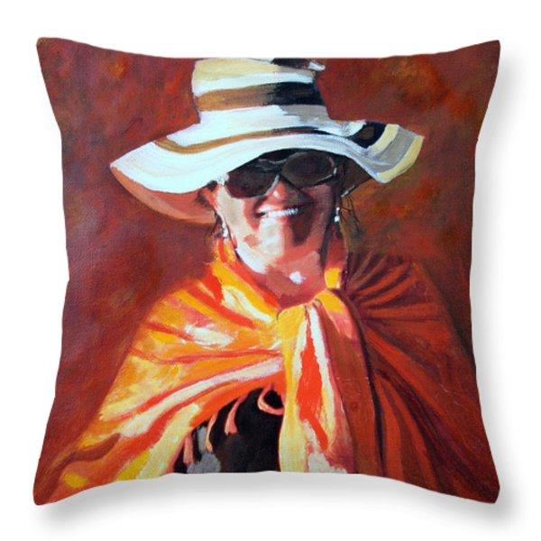 Jolanta By Sharon Burger Throw Pillow by Jolanta Anna Karolska