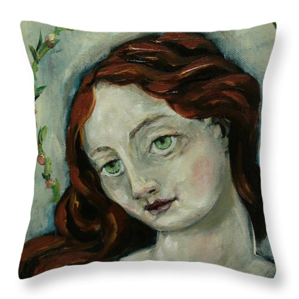 Jolene-detail Throw Pillow by Carrie Joy Byrnes