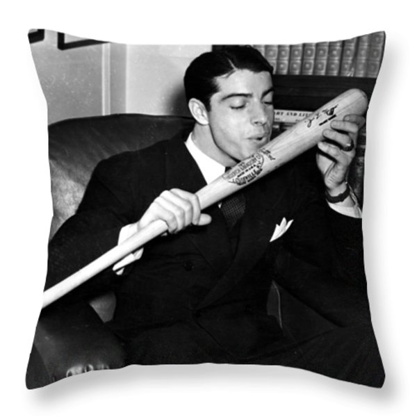 Joltin' Joe Throw Pillow by Benjamin Yeager