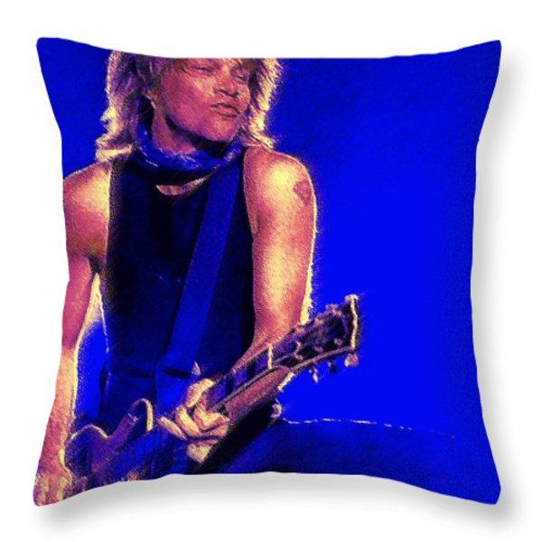 Jon Bon Jovi Throw Pillow by John Travisano