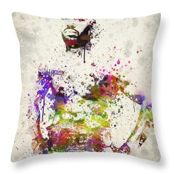 Jon Jones Throw Pillow by Aged Pixel