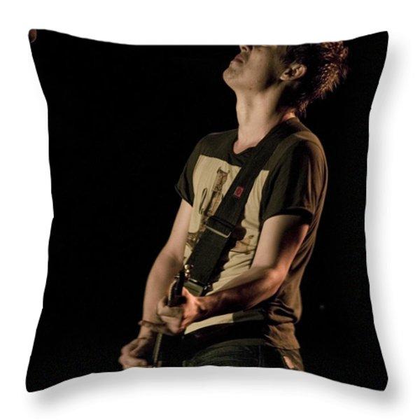 Jonny Lang Throw Pillow by Bill Gallagher