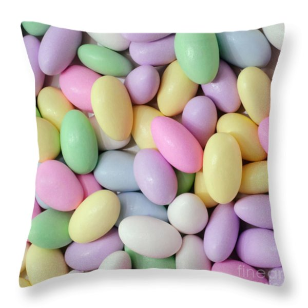 Jordan Almonds - Weddings - Candy Shop - Square Throw Pillow by Andee Design