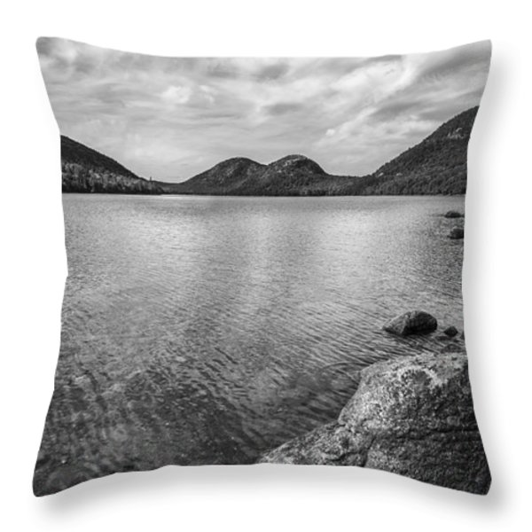 Jordan Pond Acadia National Park Maine. Throw Pillow by Diane Diederich