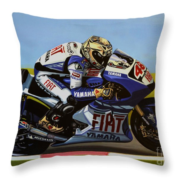 Jorge Lorenzo Throw Pillow by Paul  Meijering