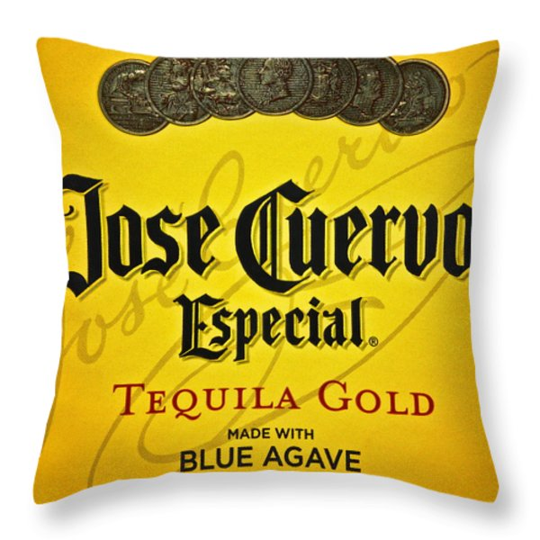 Jose Cuervo Tequila Art Throw Pillow by Frozen in Time Fine Art Photography