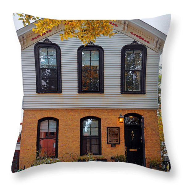 Joseph J O'connell House Chicago Throw Pillow by Christine Till