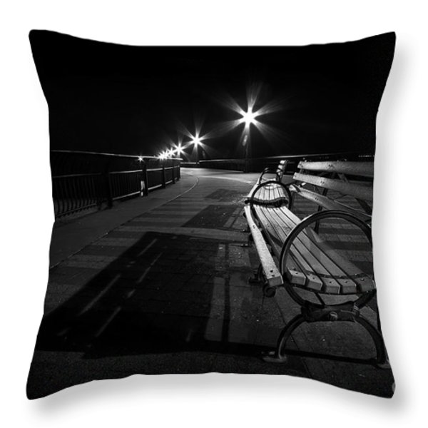 Journey Into Darkness Throw Pillow by Evelina Kremsdorf