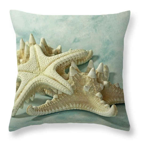 Journey to the Sea Starfish Throw Pillow by Inspired Nature Photography By Shelley Myke