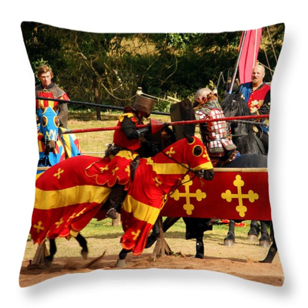Jousting Throw Pillow by Terri  Waters