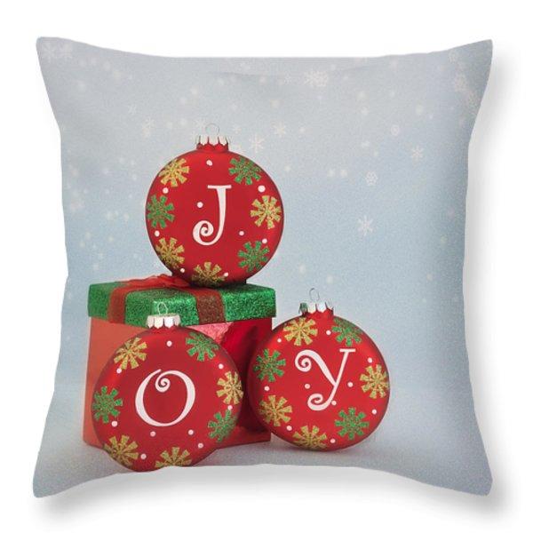 Joy Throw Pillow by Kim Hojnacki