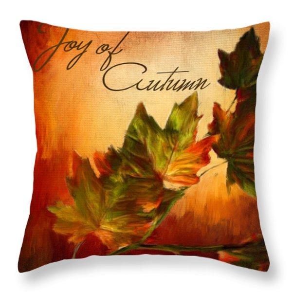 Joy Of Autumn Throw Pillow by Lourry Legarde
