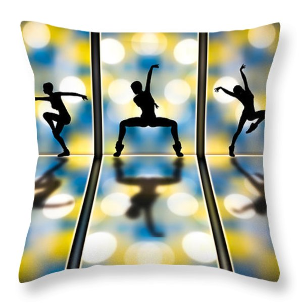 Joy Of Movement Throw Pillow by Bob Orsillo