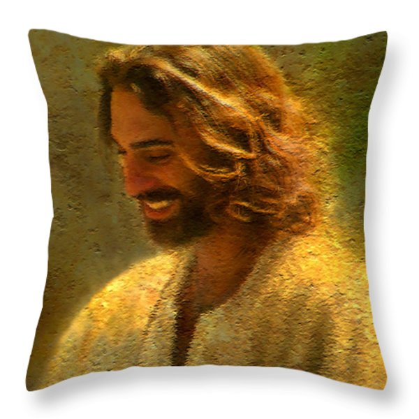 Joy Of The Lord Throw Pillow by Greg Olsen