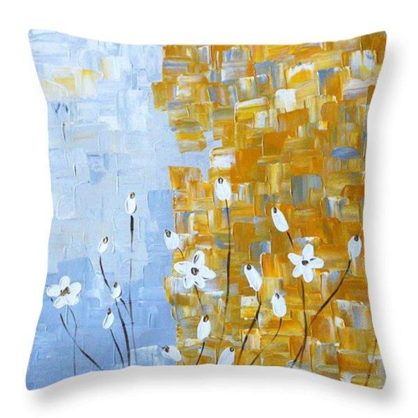 joy Throw Pillow by Sonali Kukreja