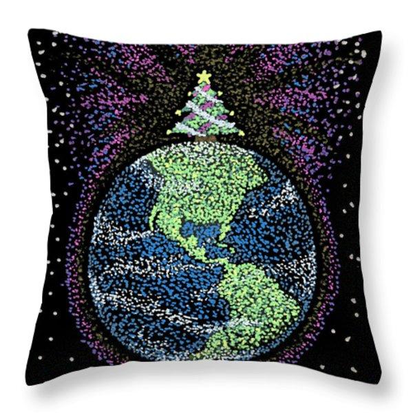 Joyful Joyful Throw Pillow by Keiko Katsuta