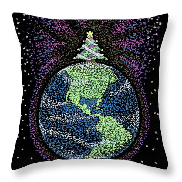 Joyful Joyful Throw Pillow by Keiko Katsuta