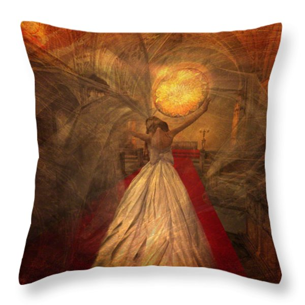 Joyous Bride Throw Pillow by Kylie Sabra