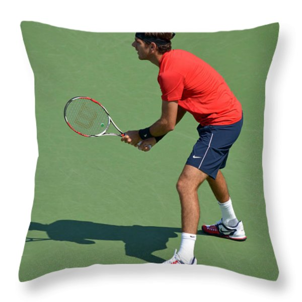 Juan Martin del Potro Throw Pillow by Maria isabel Villamonte
