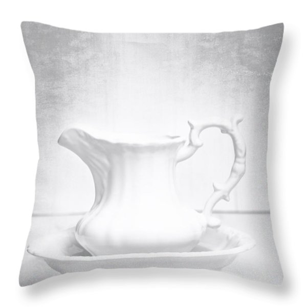 Jug And Bowl Throw Pillow by Amanda And Christopher Elwell