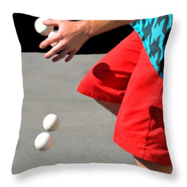 Juggler Throw Pillow by Diana Angstadt