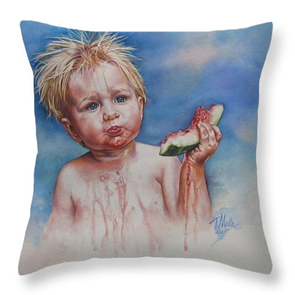 Juicy Throw Pillow by Tracy Male