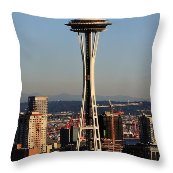 July 4th Needle Throw Pillow by Benjamin Yeager